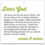 Prayer: Faith Overcomes Challenges