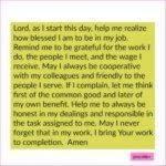 Prayer: Job Prayer