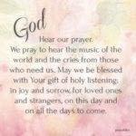 Prayer: Hear Our Prayer