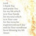 Prayer: For Blessing My Life