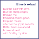 Prayer: Hurt's So Bad