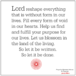 Prayer: To Find and Fulfill