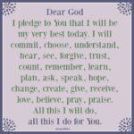 Prayer: My Pledge to God
