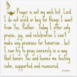 Prayer: Reassured