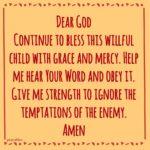 Prayer: Willful Child