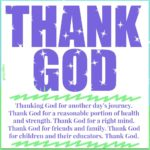 Prayer: Thank God