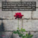 Prayer: Silent Communication