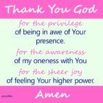 Prayer: Awe, Oneness and Joy
