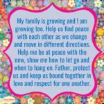 Prayer: Growing Family