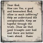 Prayer: Benevolent God