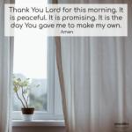 Prayer: This Morning