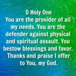 Prayer: My Provider and Defender
