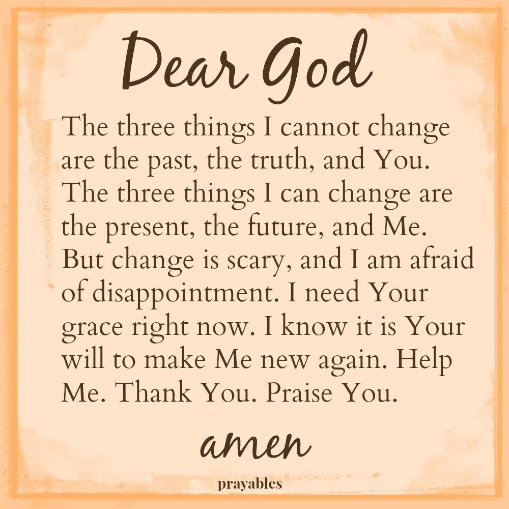 Prayer: Unchangeable God – Prayables