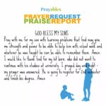 Prayer Request: My Sons